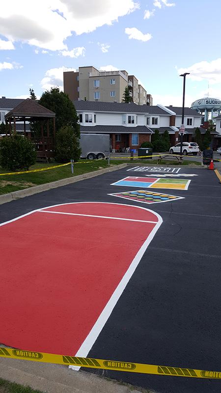 Playground Line Painting