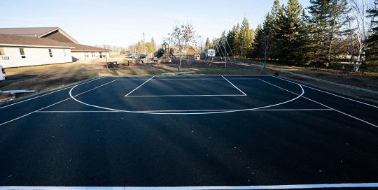 Sports Court Line Painting Saskatoon