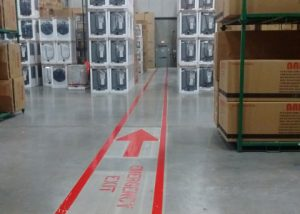 Interior Warehouse Line Painting