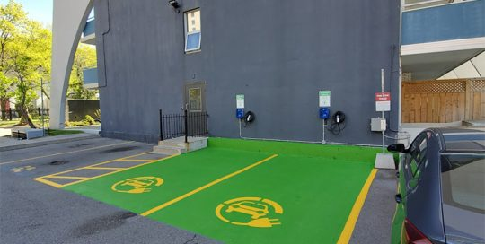 Charging Station Parking Lot Painting Toronto