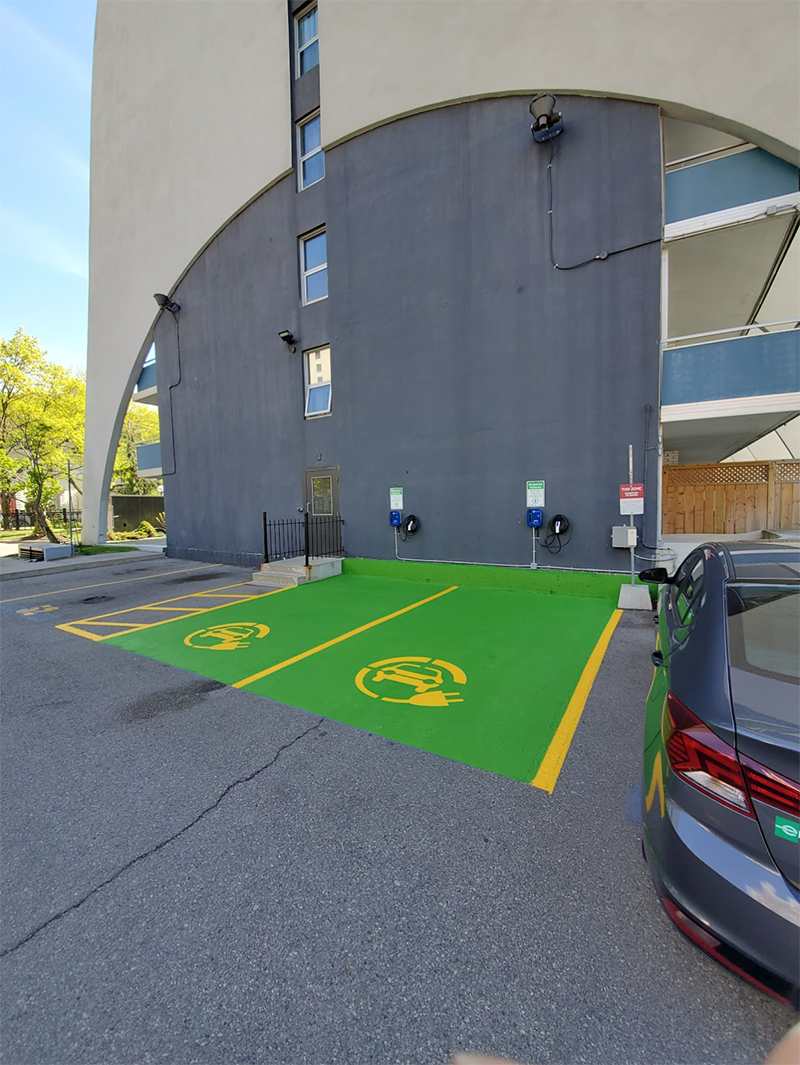 Charging Station Parking Lot Painting Toronto