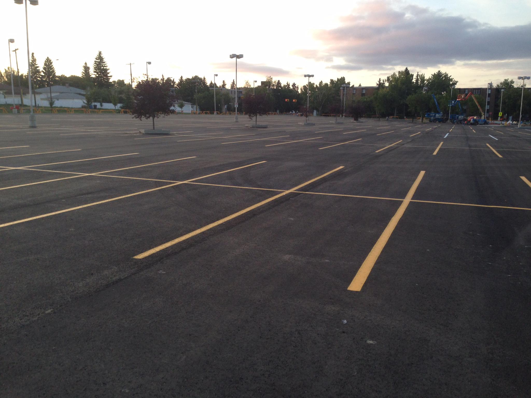 Parking lot lines