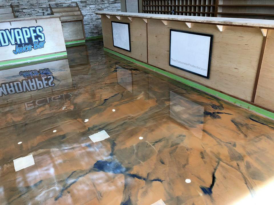 Metallic Marble Epoxy Flooring