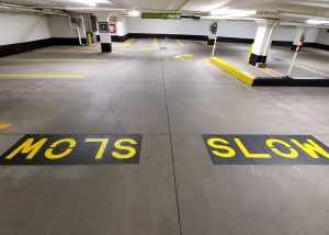 Parking Garage Custom Stencilling