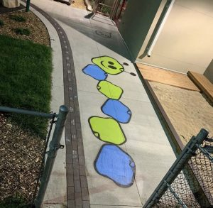 Playground Custom Stencilling