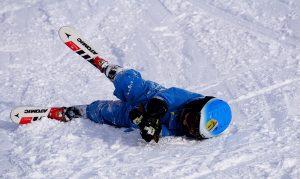 Downed skiier