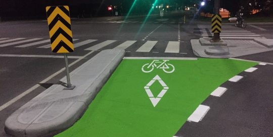 Bike Lane Painting Project Calgary
