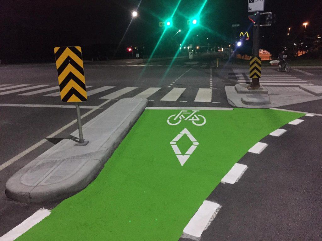 A TBL Durable bike path and crosswalk