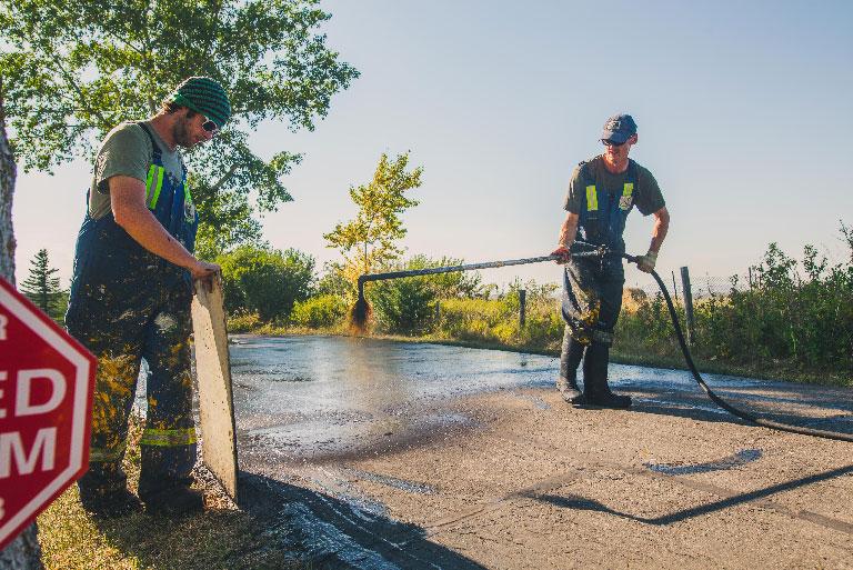 Seal coating service reducing potential hazards
