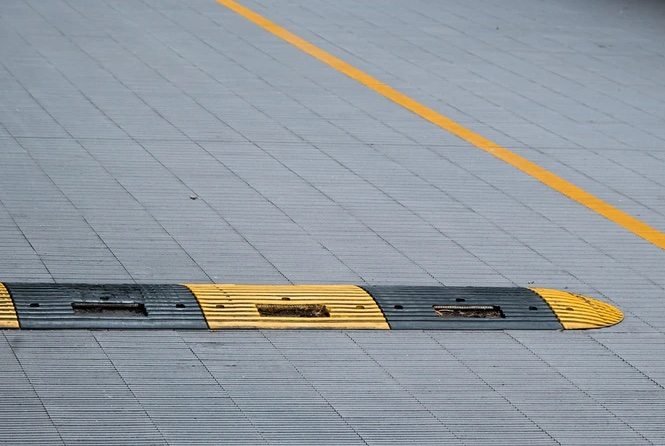 Speed bumps prevent accidents